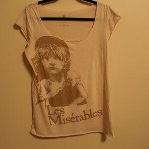 Les Miserables Cream lightweight t-shirt Large